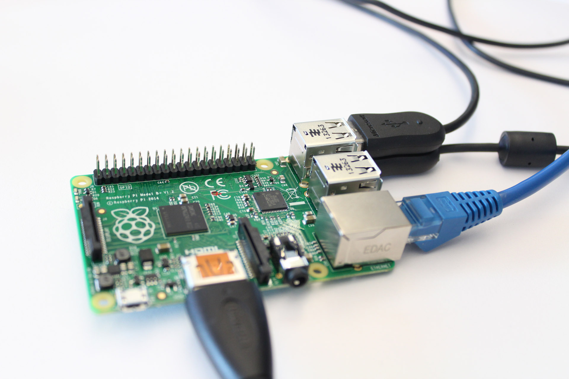 Raspberry Pi inkopplad